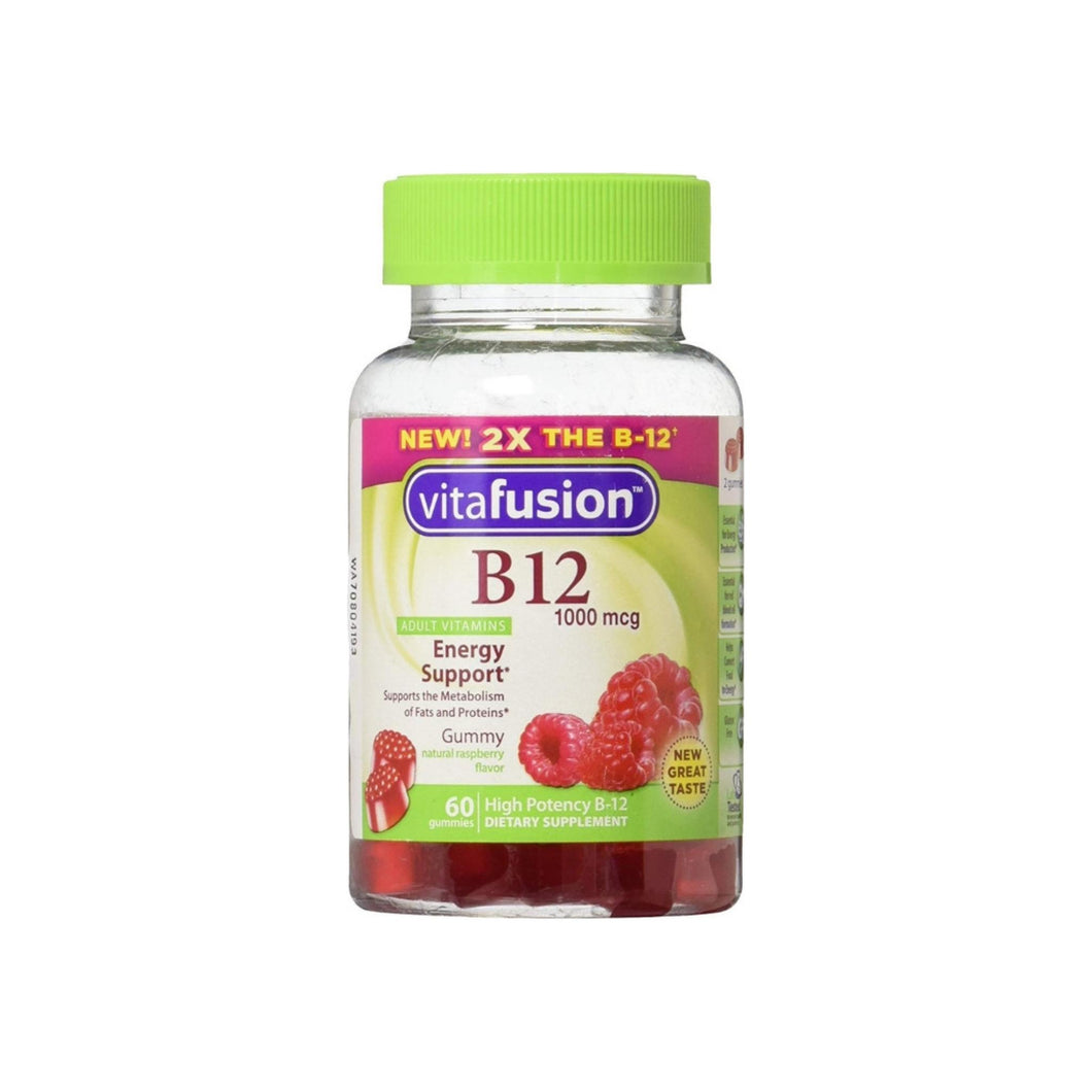 Vitafusion B-12 1000 mcg Energy Support Supplement, 60 ea