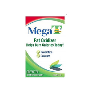 MEGA-T Green Tea Caplets With Calcium And Probiotics, 30 ea