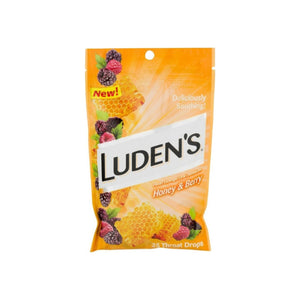 Ludens Deliciously Soothing Throat Drops, Honey & Berry Flavor,  25 ea