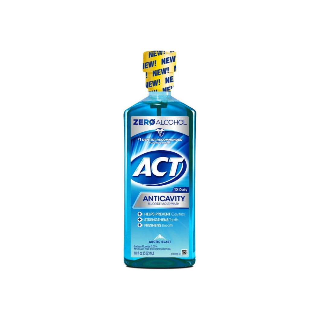 ACT Anticavity Fluoride Mouthwash Arctic Blast, 18 oz - Pharmapacks
