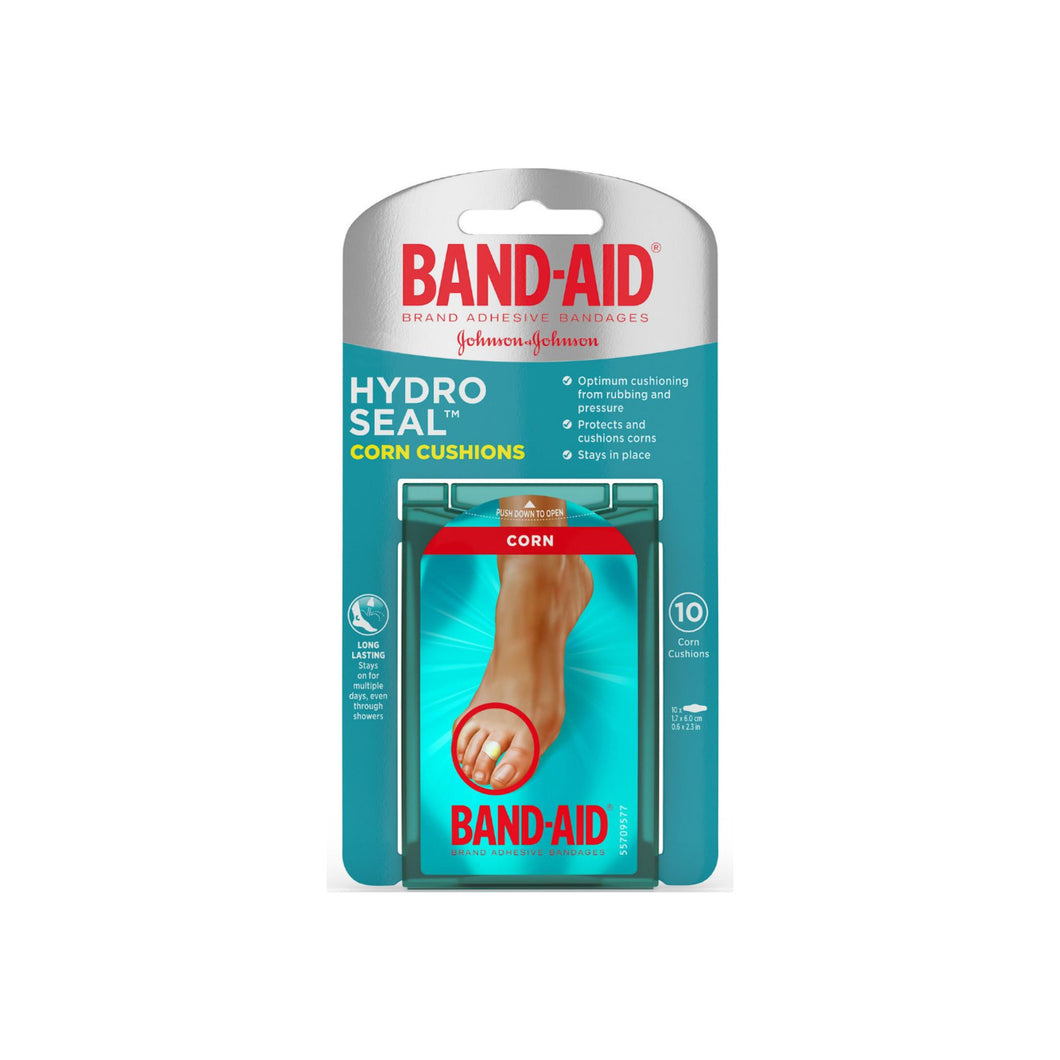 BAND-AID Brand Hydro Seal Corn Cushion Bandages, Waterproof Corn Pads, Medium, 10 ct 1 ea