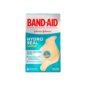 BAND-AID Brand Hydro Seal Large Waterproof Adhesive Bandages for Wound Care and Blisters, 6 ct 1 ea
