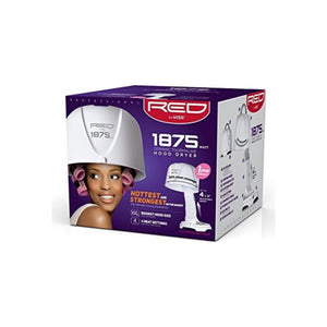 KISS Red Pro 1875 watt Ceramic Tourmaline Hood Dryer, 1 ea