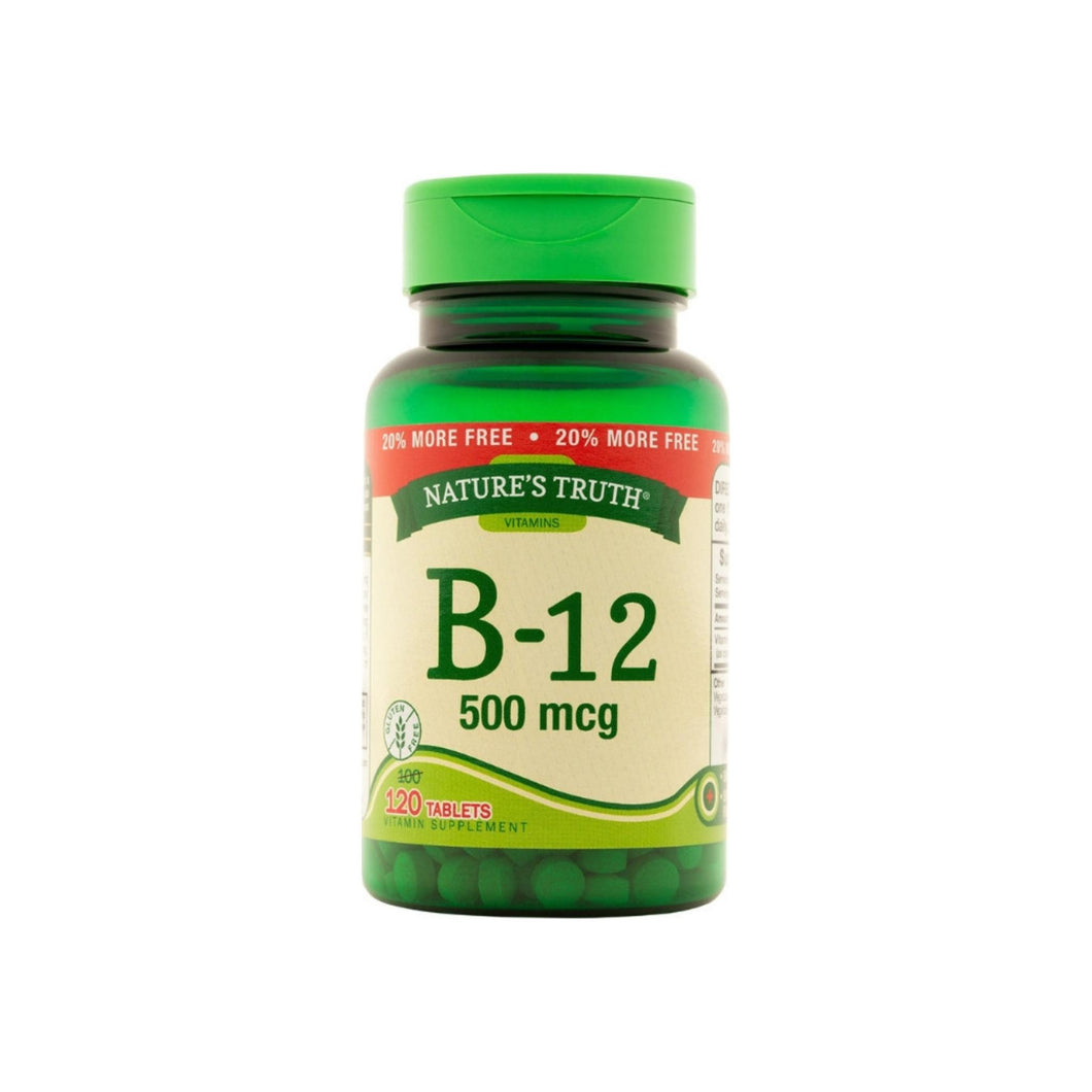 Nature's Truth Vitamin B-12 Tablets  500 mg, 120 ea