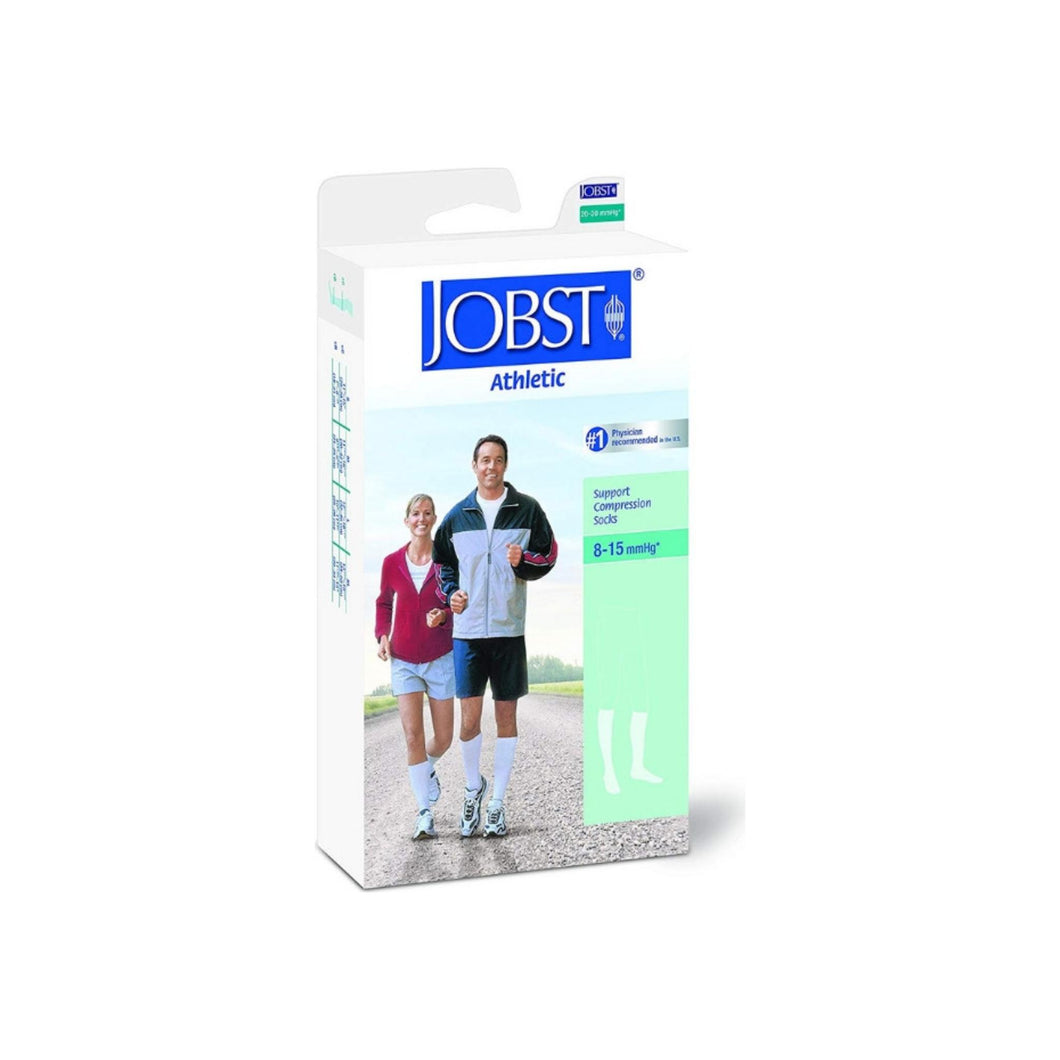 JOBST Men's Dress Knee High 8-15 Closed Toe Socks, Brown, Medium, 1 Pair