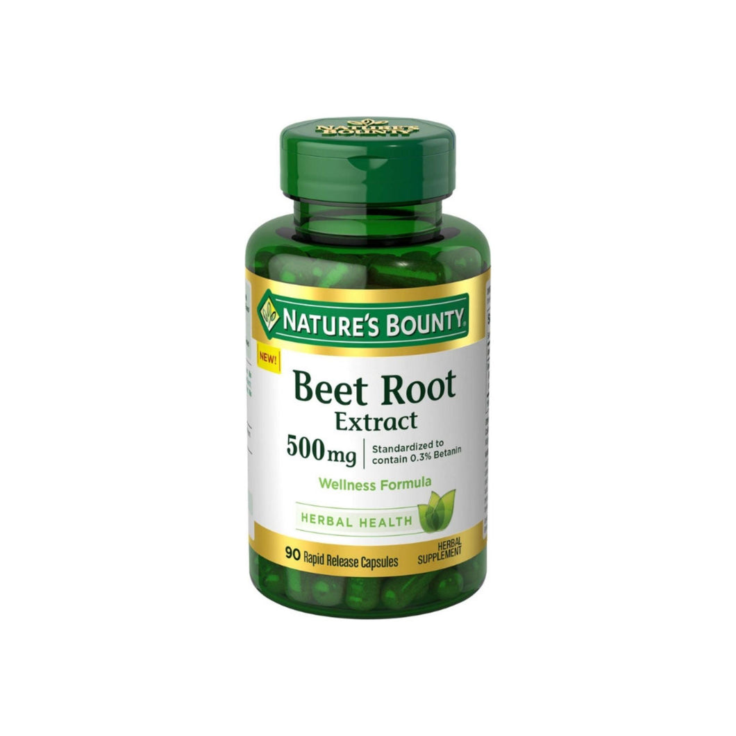 Nature's Bounty Beet Root Extract 500 mg, 90 ea