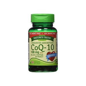 Nature's Truth Enhanced Absorption CoQ-10 100 mg, Black Pepper Extract 50 ea