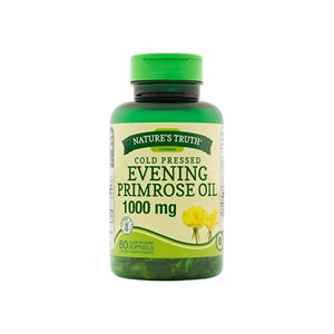 Nature's Truth Cold Pressed Evening Primrose Oil 1000 mg Capsules, 60 ea