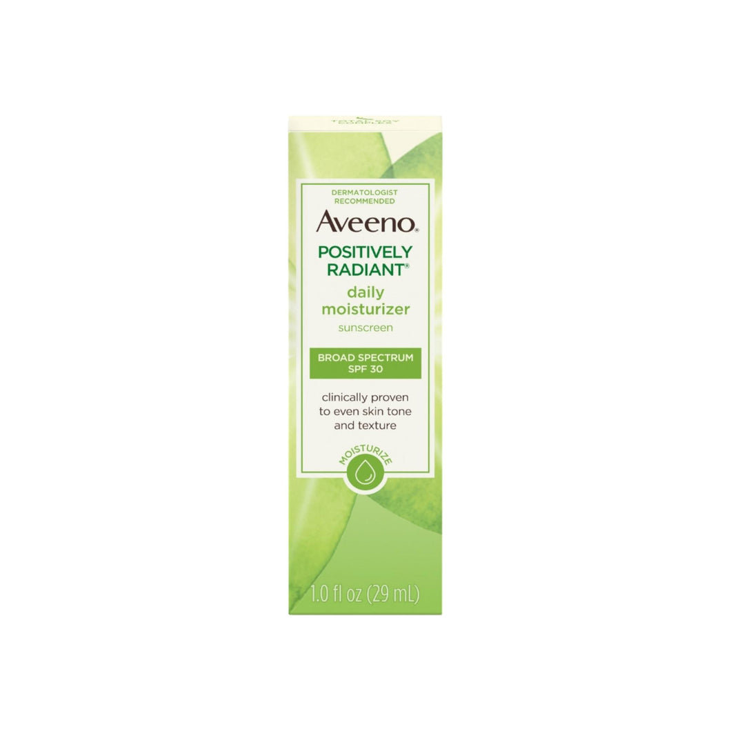 Aveeno Positively Radiant Daily Facial Moisturizer with Total Soy Complex and Broad Spectrum SPF 30 Sunscreen 1 oz [381371181933]