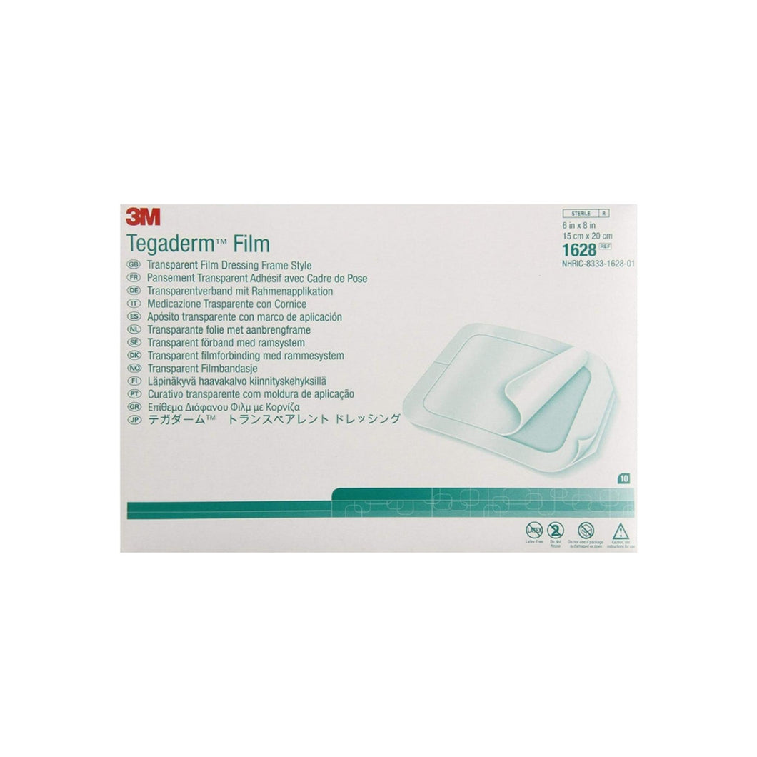 Transparent Film Dressing 3M Tegaderm Rectangle 6 X 8
