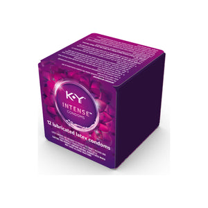 K-Y  Intense Latex Condoms (12 cnt), Discreetly Packaged With Silicone-Based Lubricant, Ribbed & Dotted With Specially Formulated Lube  1 ea
