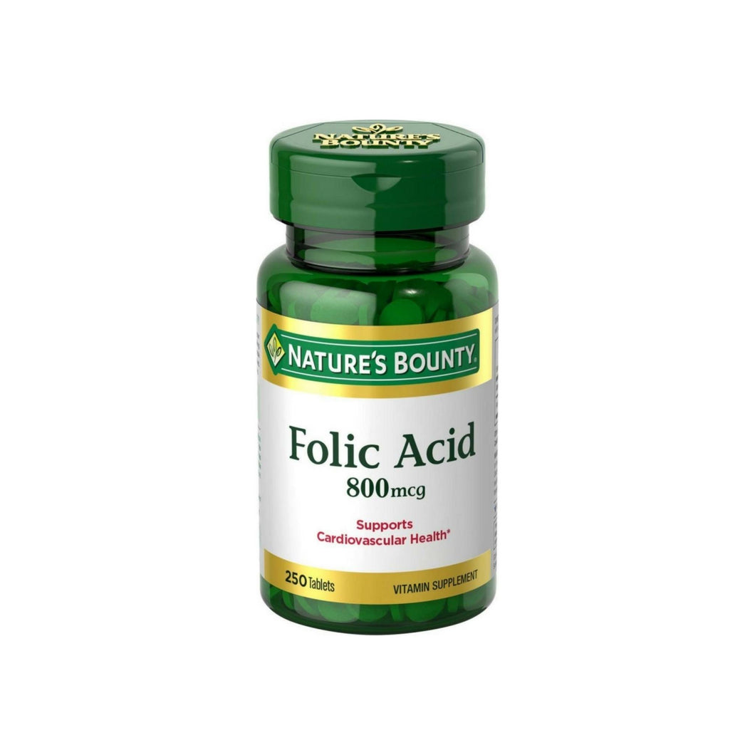 Nature's Bounty Folic Acid 800 mcg, 250 Tablets