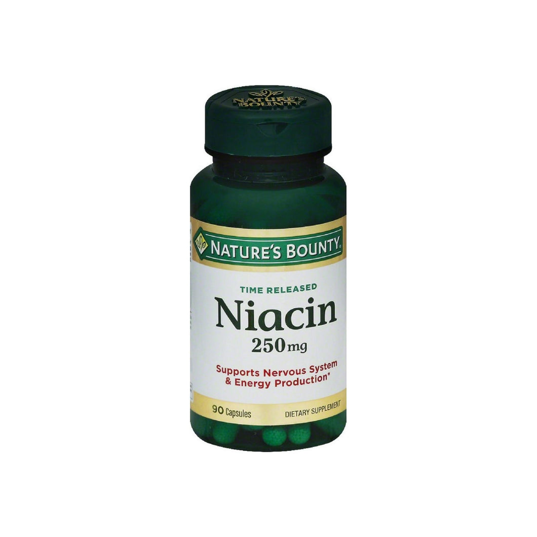 Nature's Bounty Natural Time Release Niacin 250 mg Capsules 90 ea