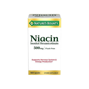 Nature's Bounty Niacin 500 mg Capsules Flush Free 50 ea