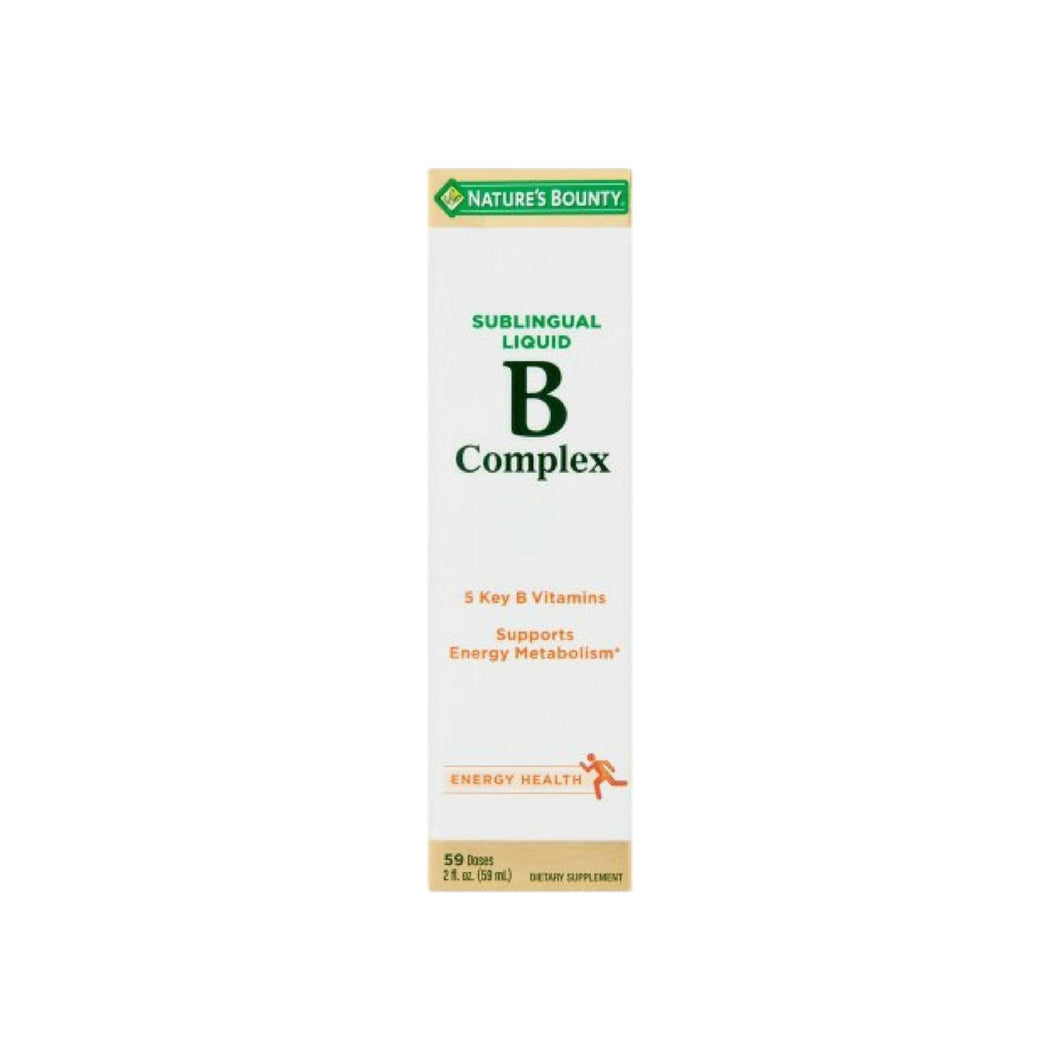 Nature's Bounty Vitamin B Complex Sublingual Liquid 2 oz