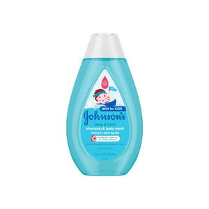 JOHNSON'S Clean & Fresh Children's Tear-Free Shampoo & Body Wash, Sulfate-Free 13.6 oz