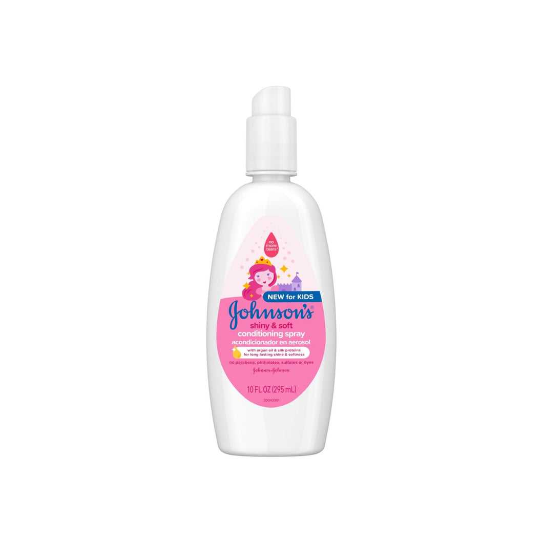 JOHNSON'S Shiny & Soft Tear-Free Kids' Conditioning Spray with Argan Oil 10 oz