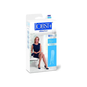 JOBST Ultrasheer 15-20 mmHg Medical Compression Stockings, Beige, Large, 1 Pair