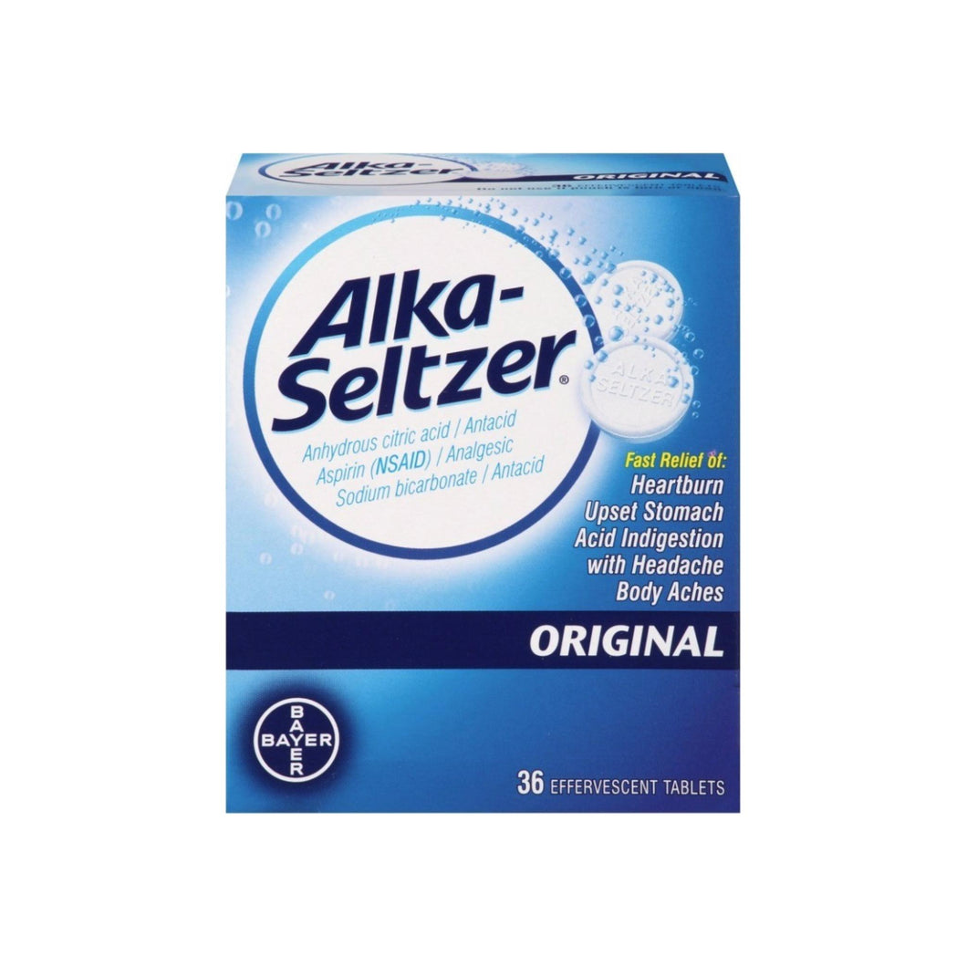 Bayer Alka-Seltzer Effervescent Tablets Original 36 ea