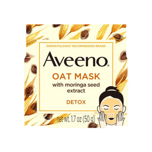 AVEENO Detoxifying Oat Face Mask with Moringa Seed Extract and Vitamin E, 1.7  oz