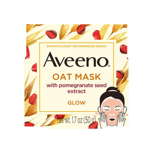 AVEENO Nourishing Oat Face Mask with Pomegranate Seed Extract for Glowing Skin,  1.7  oz