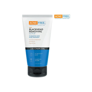 Acne Free Blackhead Removing Exfoliating Face Scrub With 2% Salicylic Acid & Charcoal Jojoba - daily wash, Skin Care Face Scrub Acne Treatment 5 oz