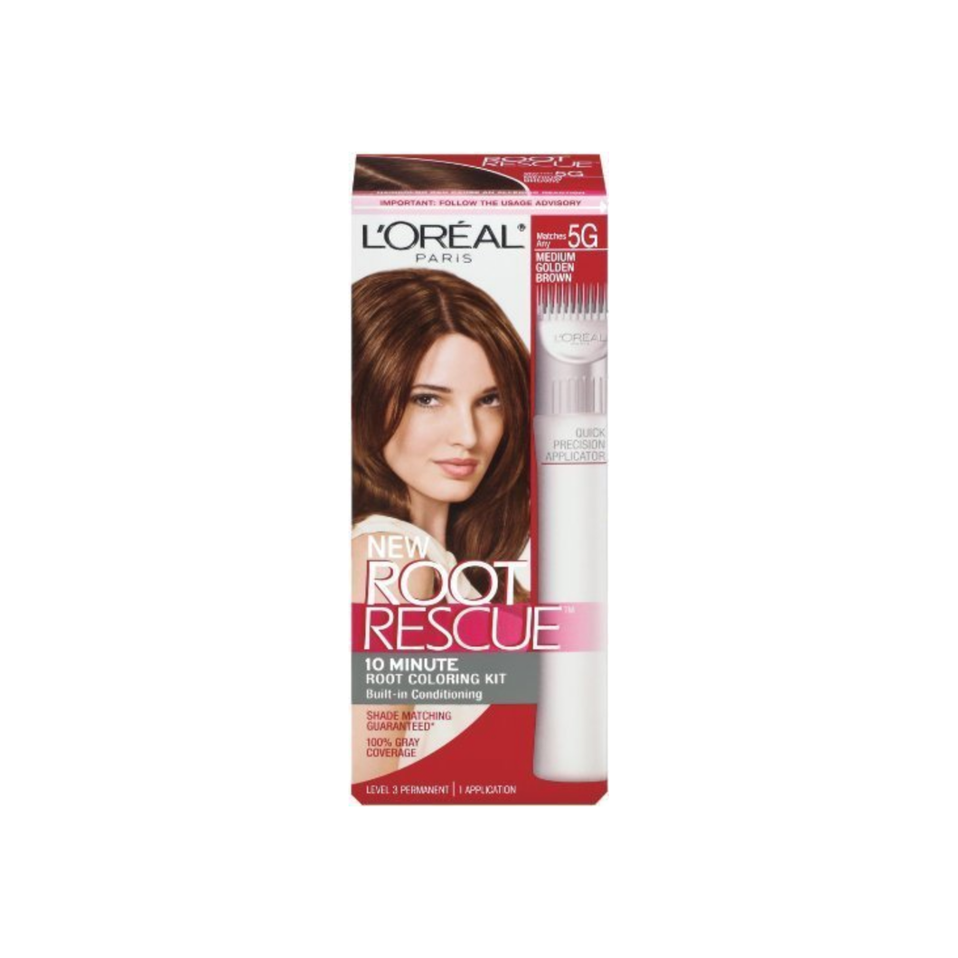 L'Oreal Root Rescue 10 Minute Root Coloring Kit, 5G Medium Golden Brown 1 ea