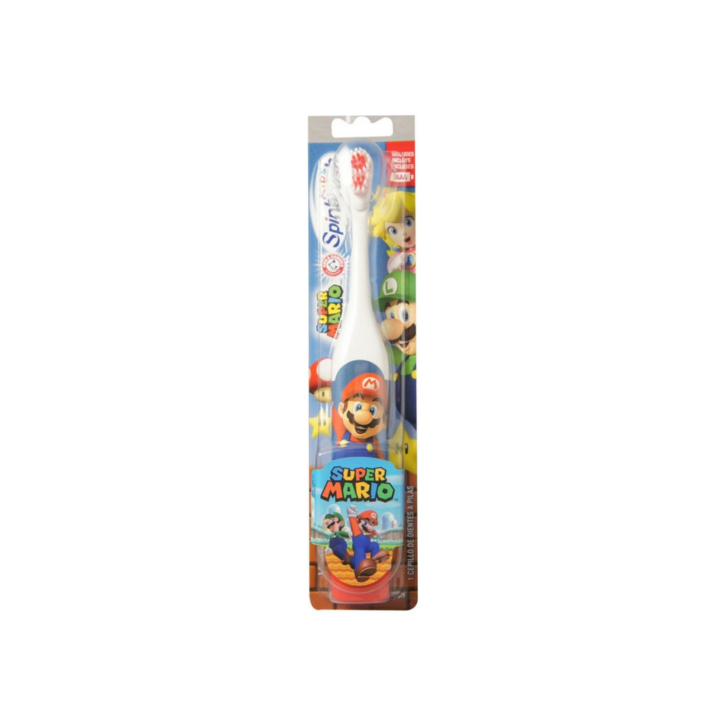 ARM & HAMMER Kid's Spinbrush Powered Toothbrush, Super Mario 1 ea