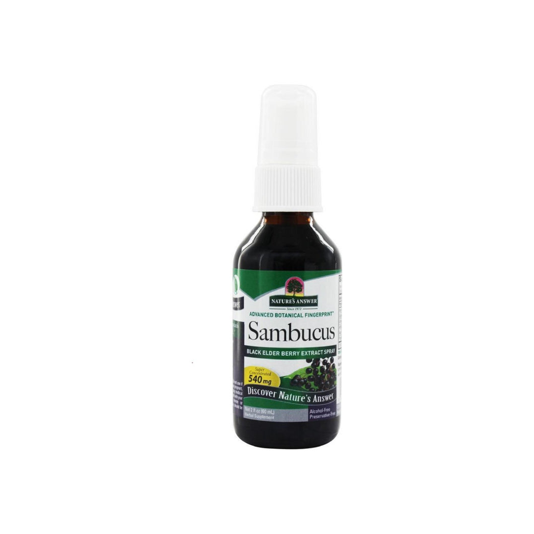 Nature's Answer Sambucus Black Elder Berry Extract Spray 2 oz