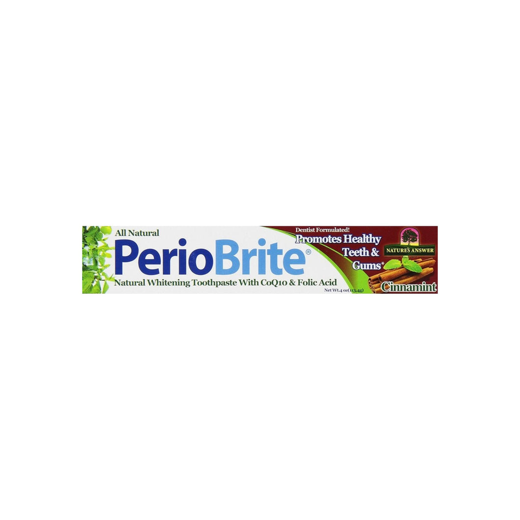 Nature's Answer Periobrite Toothpaste, Cinnamint 4 oz
