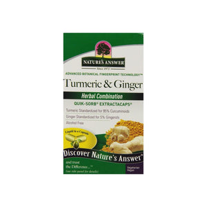Nature's Answer Tumeric & Ginger  90 ea