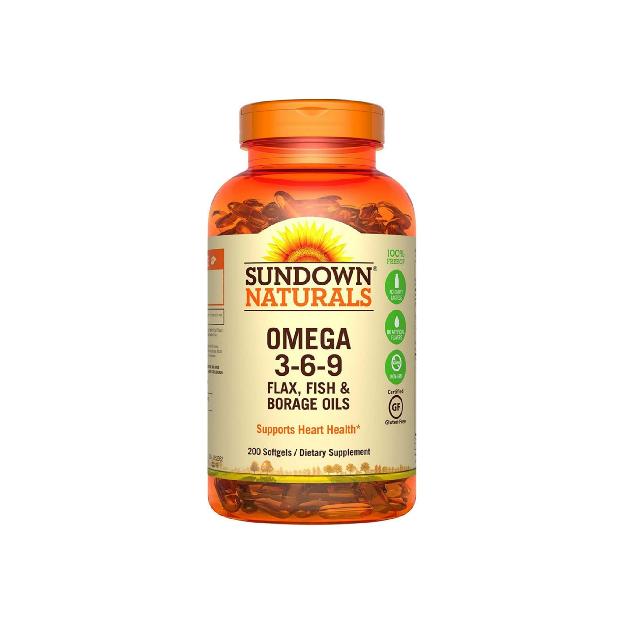 Sundown Naturals Triple Omega 3 6 9 Softgels 200 Ea Pharmapacks