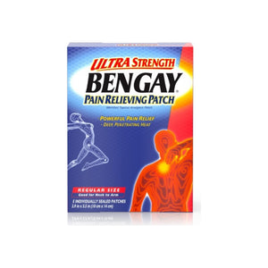 BENGAY Pain Relieving Patches Ultra Strength Regular Size 5 Each