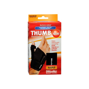Mueller Sports Medicine Reversible Thumb Stabilizer, Black, Size 5.5 - 10.5 Inches 1 ea