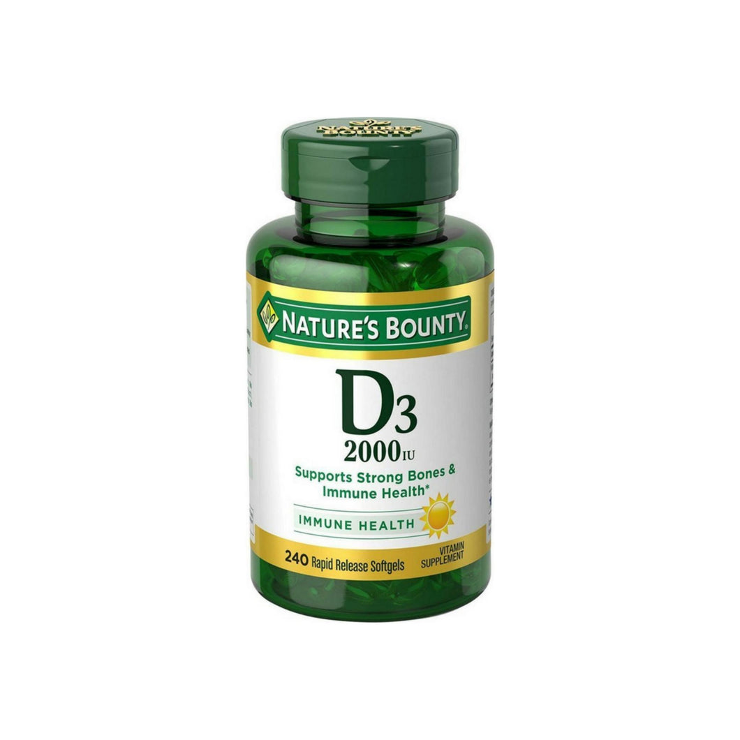 Nature's Bounty D3-2000 IU, 240 Softgels