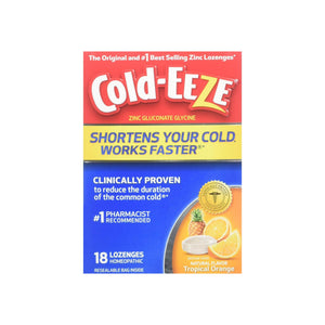 COLD-EEZE Lozenges Natural Tropical Fruit 18 Each