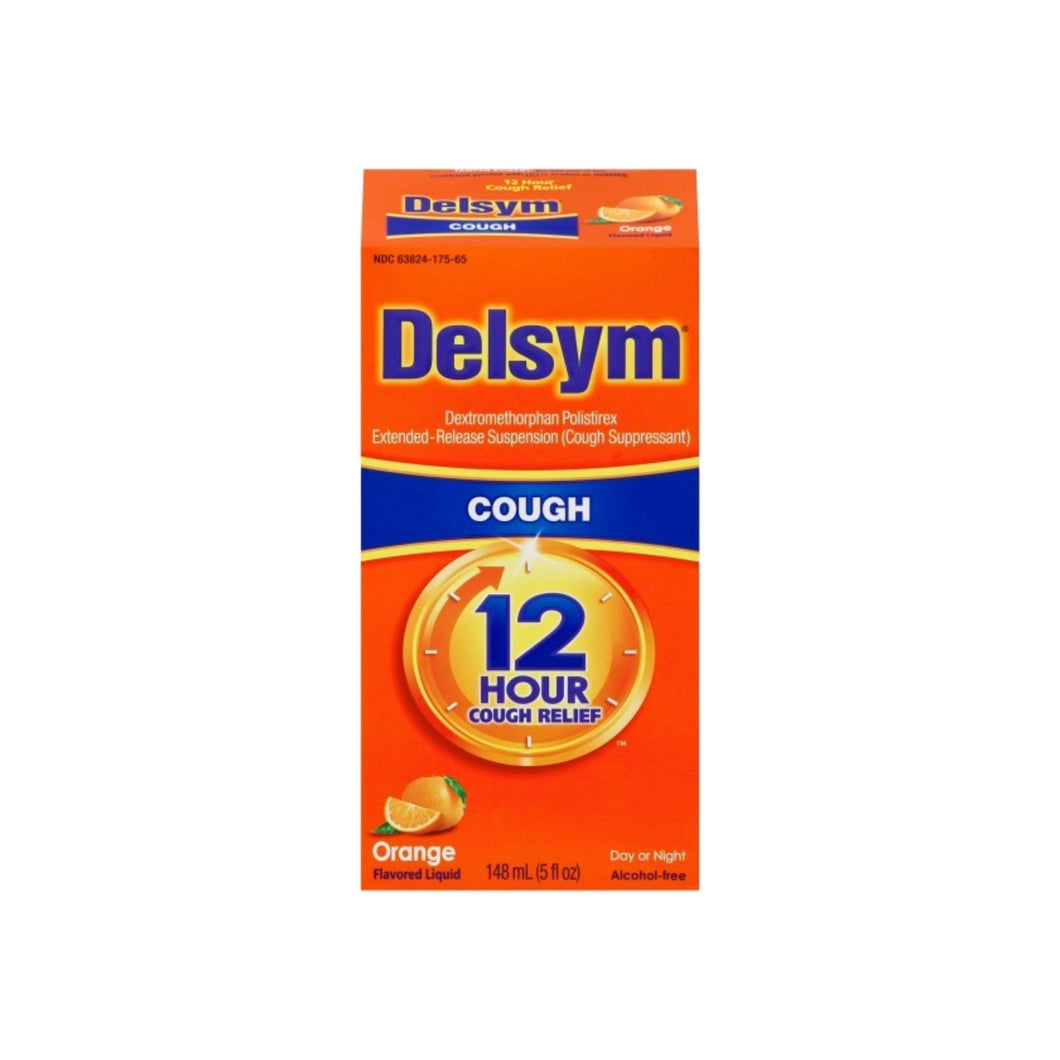 Delsym Adult Cough Suppressant Liquid, Orange Flavor, 5 oz