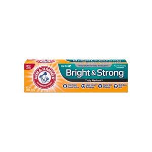ARM & HAMMER Truly Radiant Bright & Strong Fluoride Anticavity Toothpaste, Fresh Mint 4.3 oz