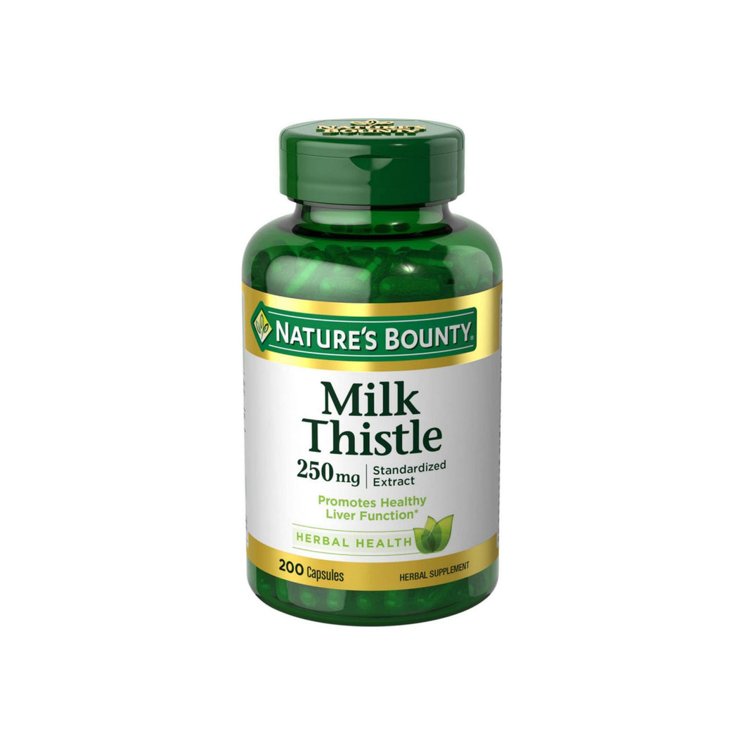Nature's Bounty Milk Thistle 250 mg Capsules 200 ea