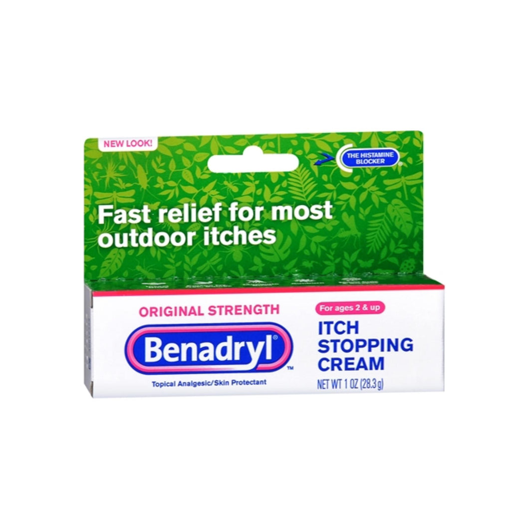 Benadryl Itch Stopping Cream Original Strength 1 oz