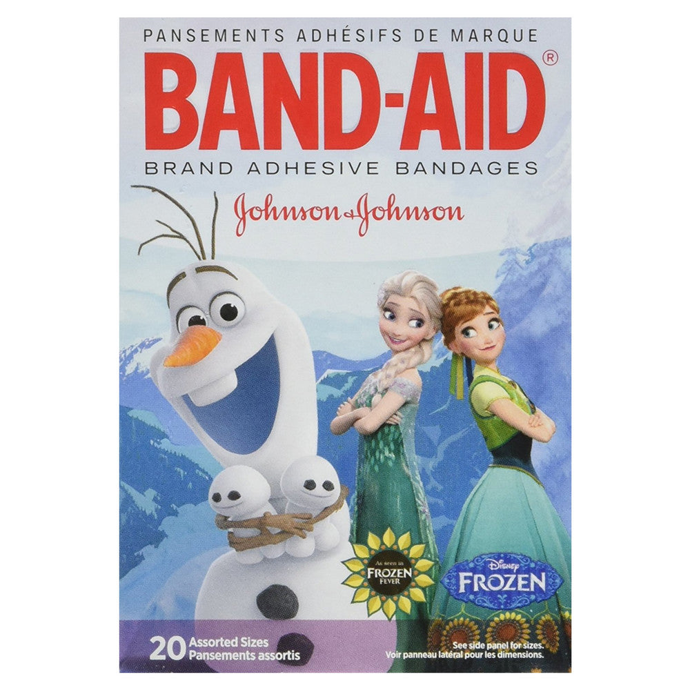 Band-Aid Adhesive Bandages Disney's Frozen, Assorted Sizes, 20 ea
