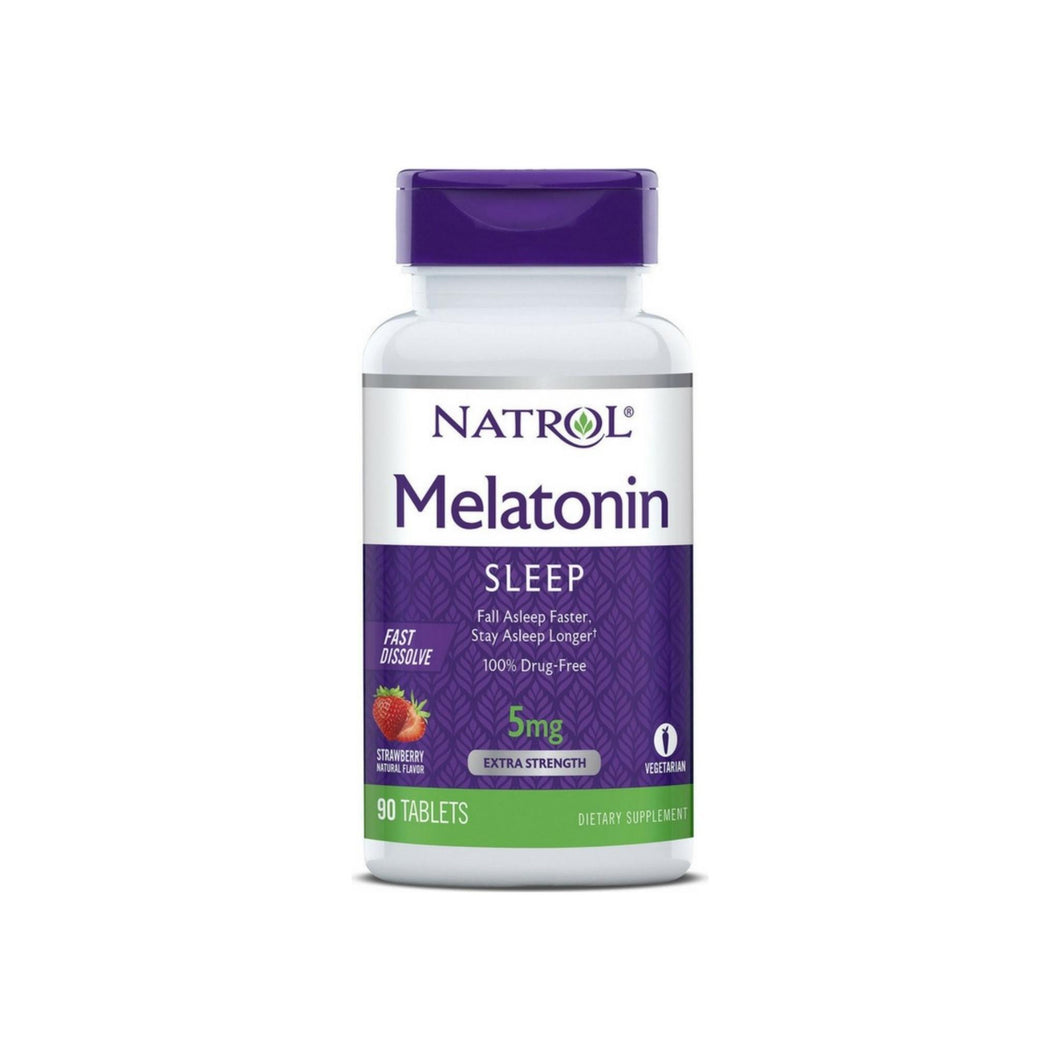 Natrol Fast Dissolve Melatonin 5 mg Tablets, Strawberry 90 ea