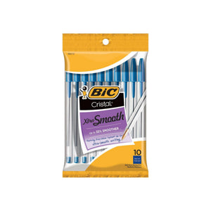 Bic Xtra Smooth Ball Pen, Medium, Blue 10 ea