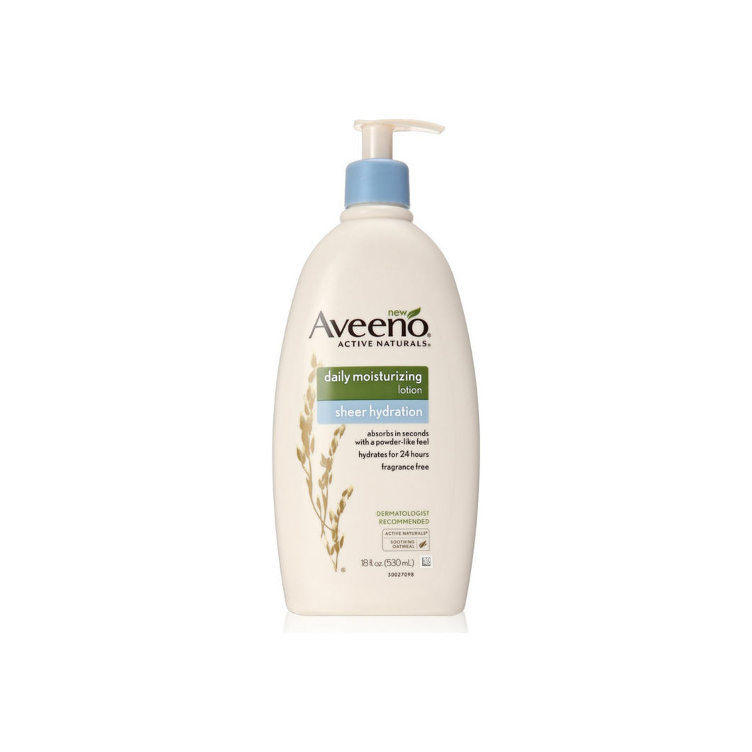 Aveeno  Active Naturals Daily Moisturizing Lotion, Sheer Hydration 18 oz