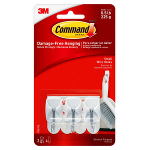 Command Small Wire Hooks 3 ea