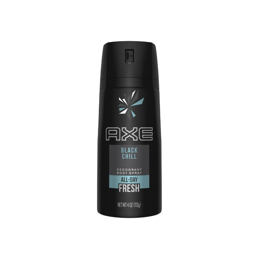 Axe Deodorant Body Spray, Black Chill 4 oz