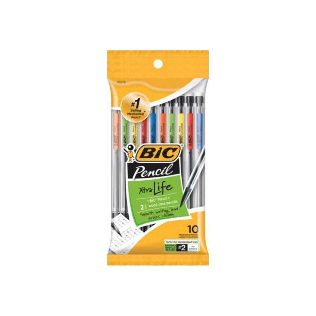 Bic Mechanical Pencil, Medium Point (0.7 mm) 10 ea