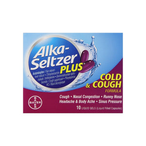 Alka-Seltzer Plus Cold & Cough Liquid Gels 10 ea
