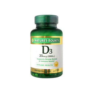 Nature's Bounty Bounty D-1000 IU Dietary Supplement Rapid Release Liquid Softgels 350 ea