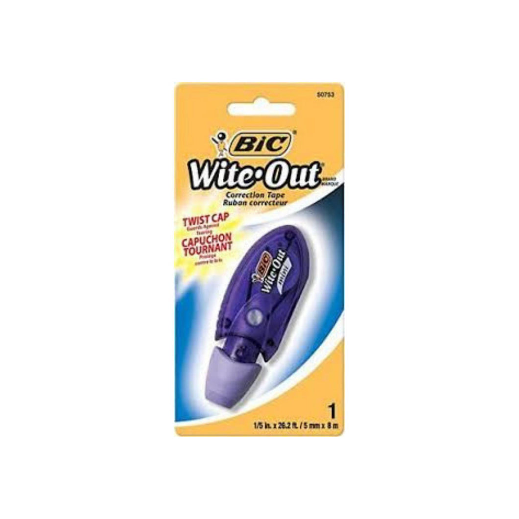 Bic Mini Wite Out Correction Tape 1 ea